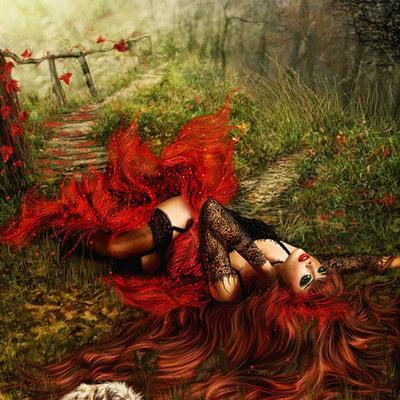 Katarina sokolova latanska red forest s fairy tales