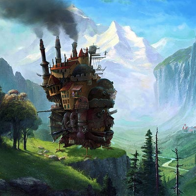 Oliver wetter howls moving castle at staubbach falls near lauterbrunnen switzerland final web