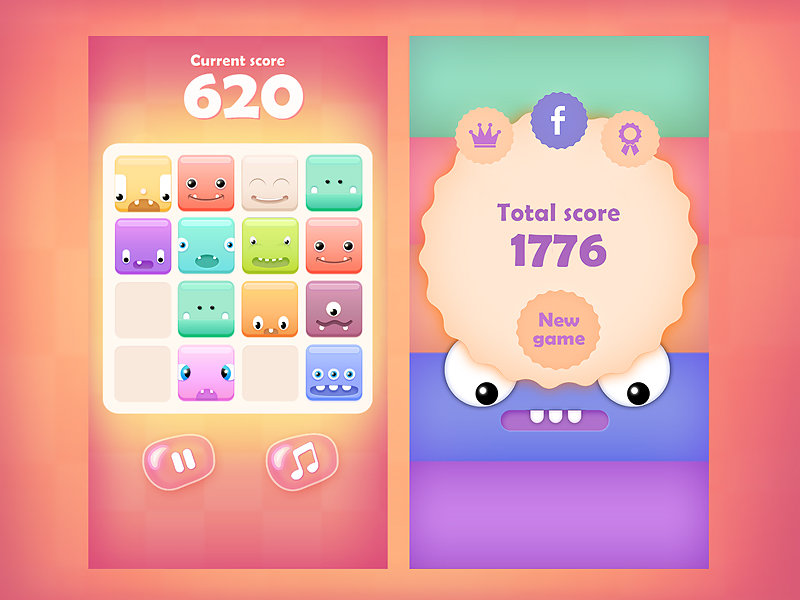 Rafal urbanski 2048cutemonstersdribble