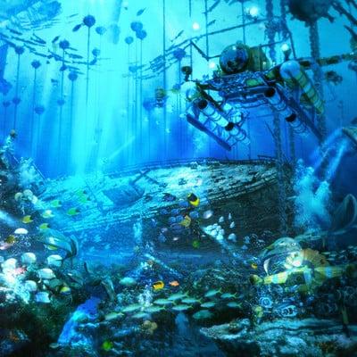 Arseniy chebynkin underwater