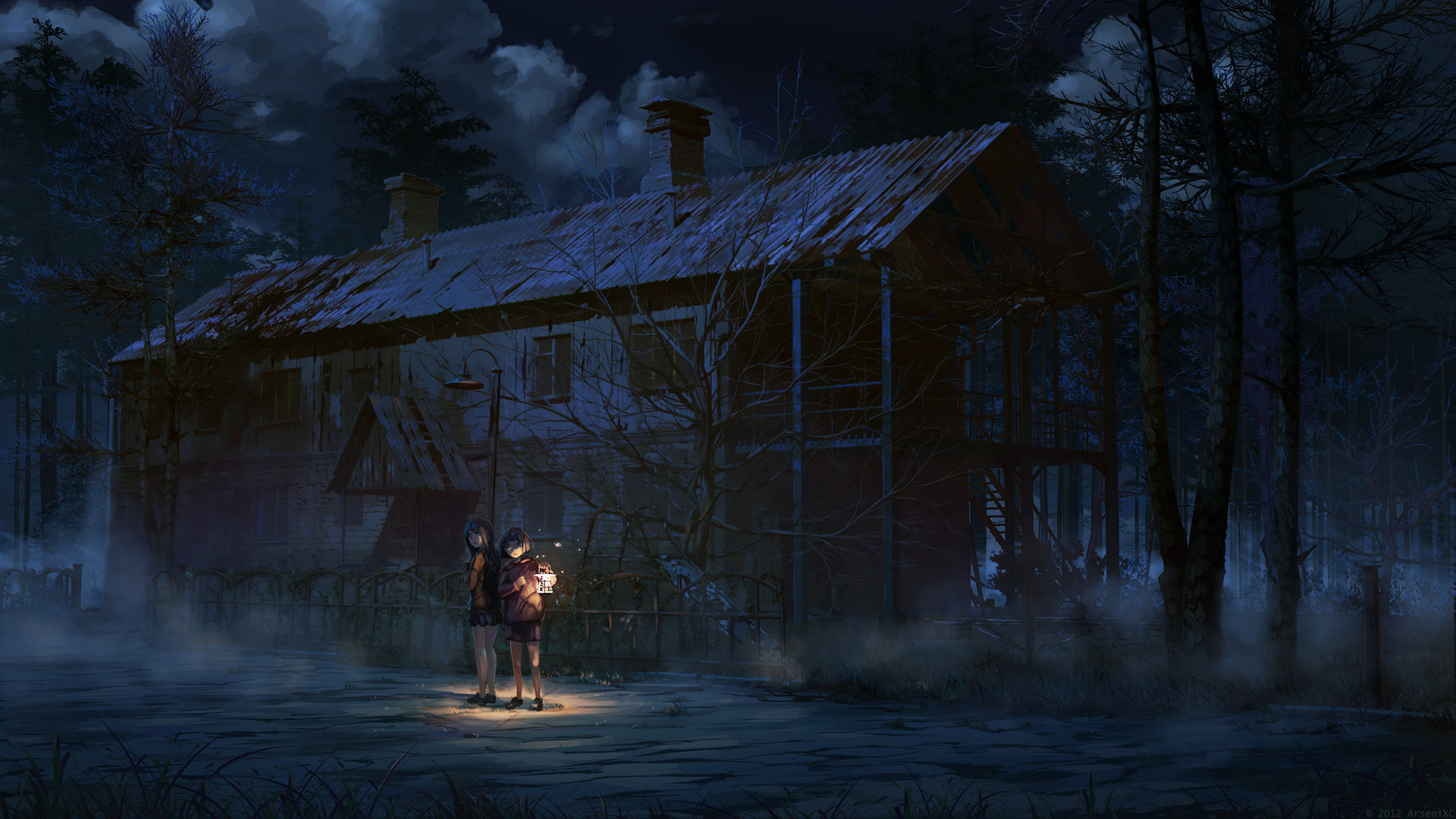 Artstation - Scary House, Arseniy Chebynkin-5660