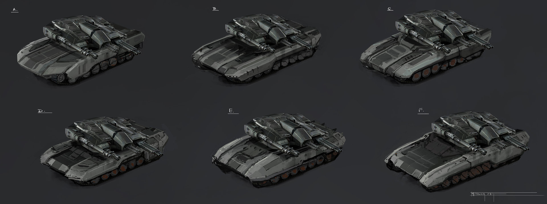 Muyoung kim armor leopard concept r2 chassis sketches