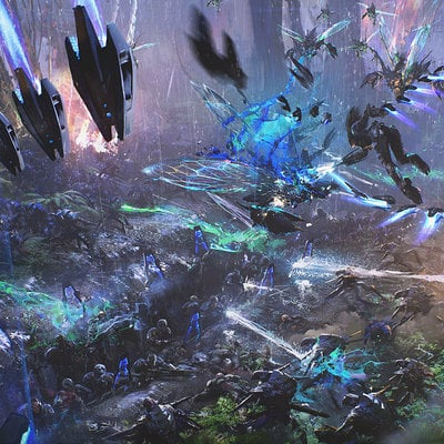 Maciej kuciara env jungle planet battle aerial v04 120211