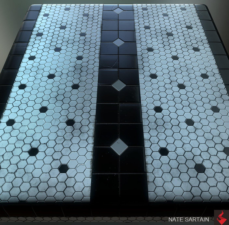 Nate Sartain Art Deco Subway Tile Pbr Material Substance Designer