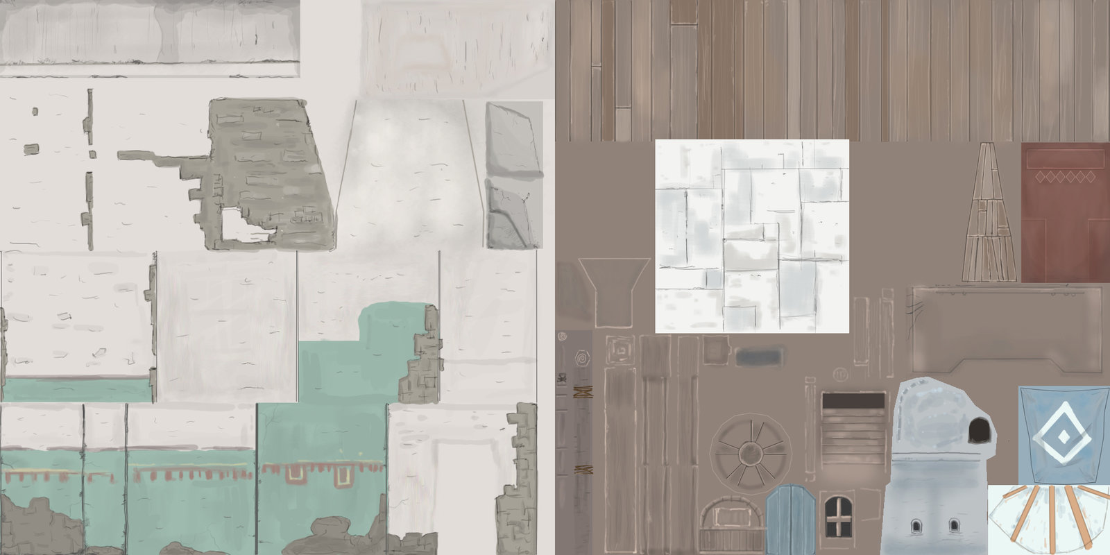Stacked building Texture maps