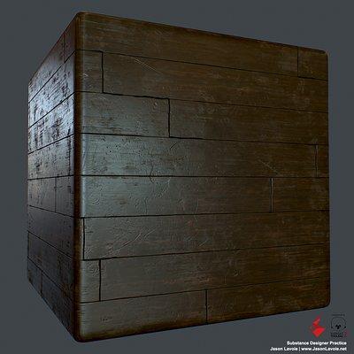Substance Designer Practice - Wood Floor A