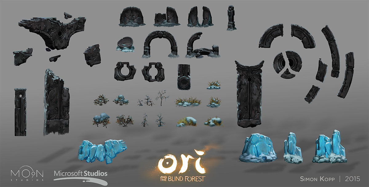 Forlorn Ruins asset board. All assets on this board were exclusively painted by me.