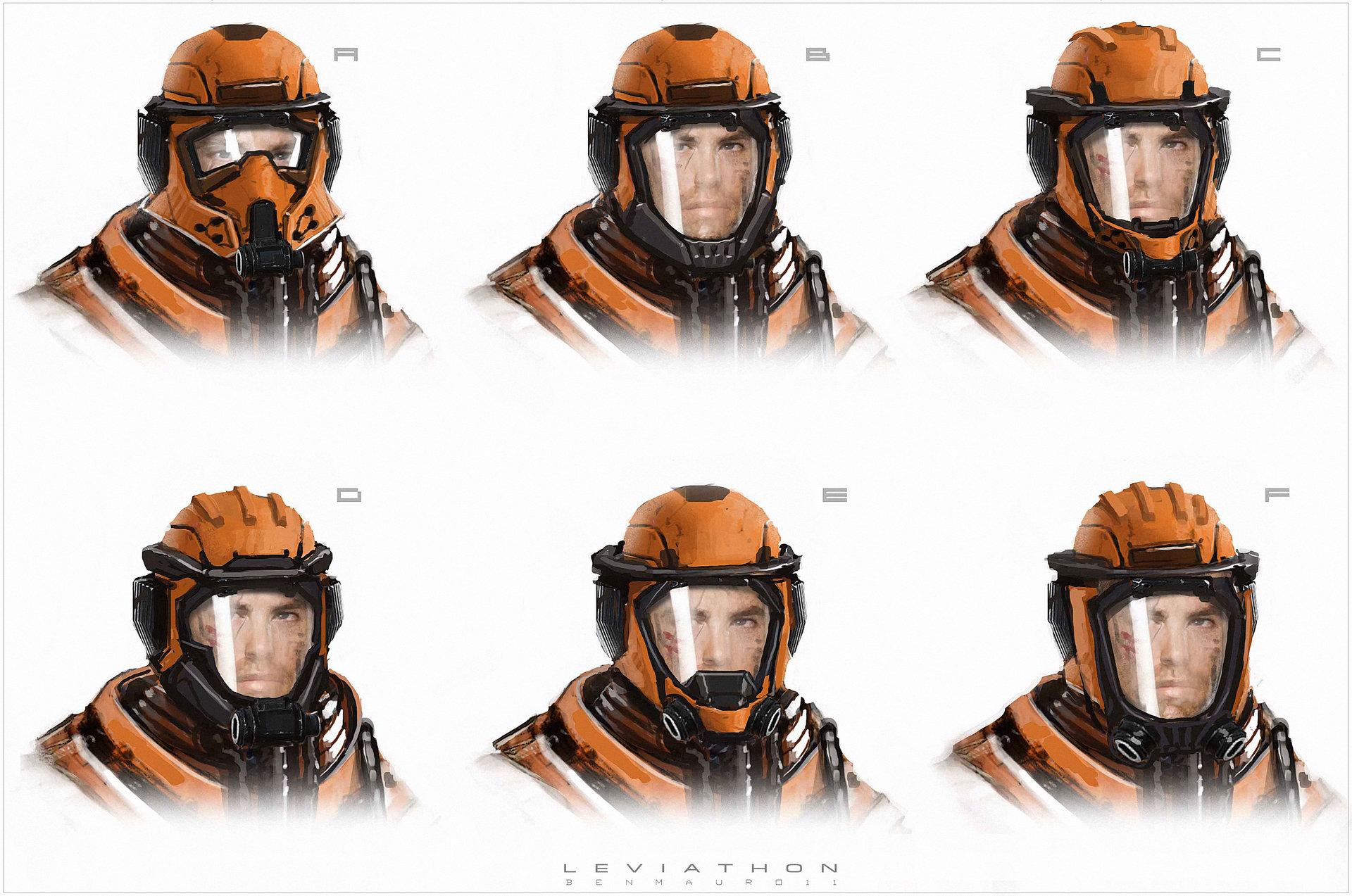 Ben mauro leviathon helmet variants bm