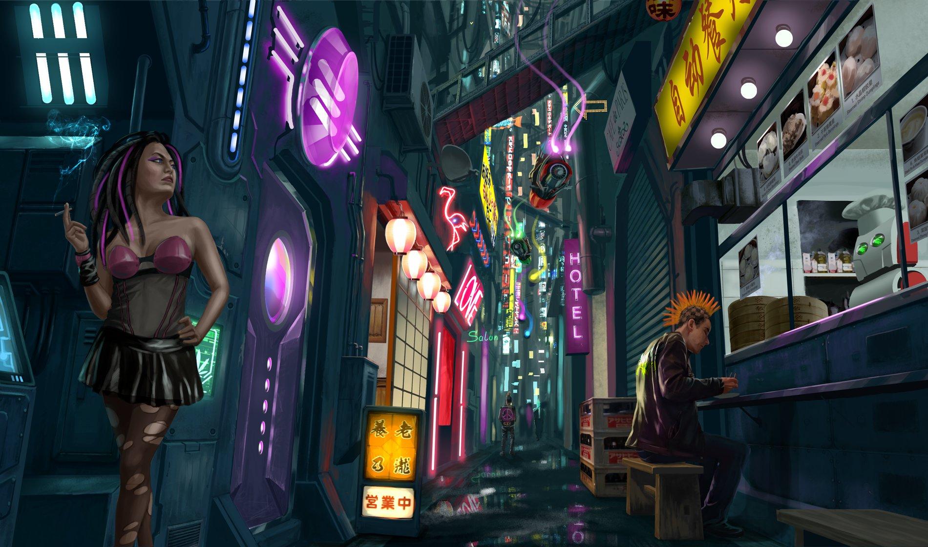 Qianqian liu neon citystreet