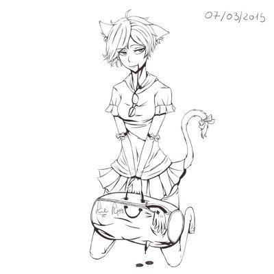 Alfredo candelaresi psycho cat girl by kiritzugu d8kqipy