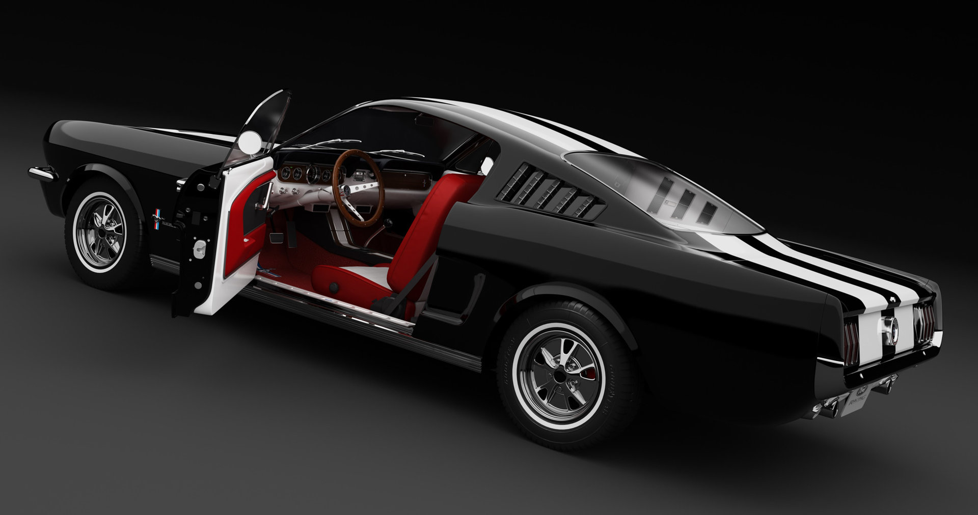 artstation ford mustang 65 paul paslea. Black Bedroom Furniture Sets. Home Design Ideas