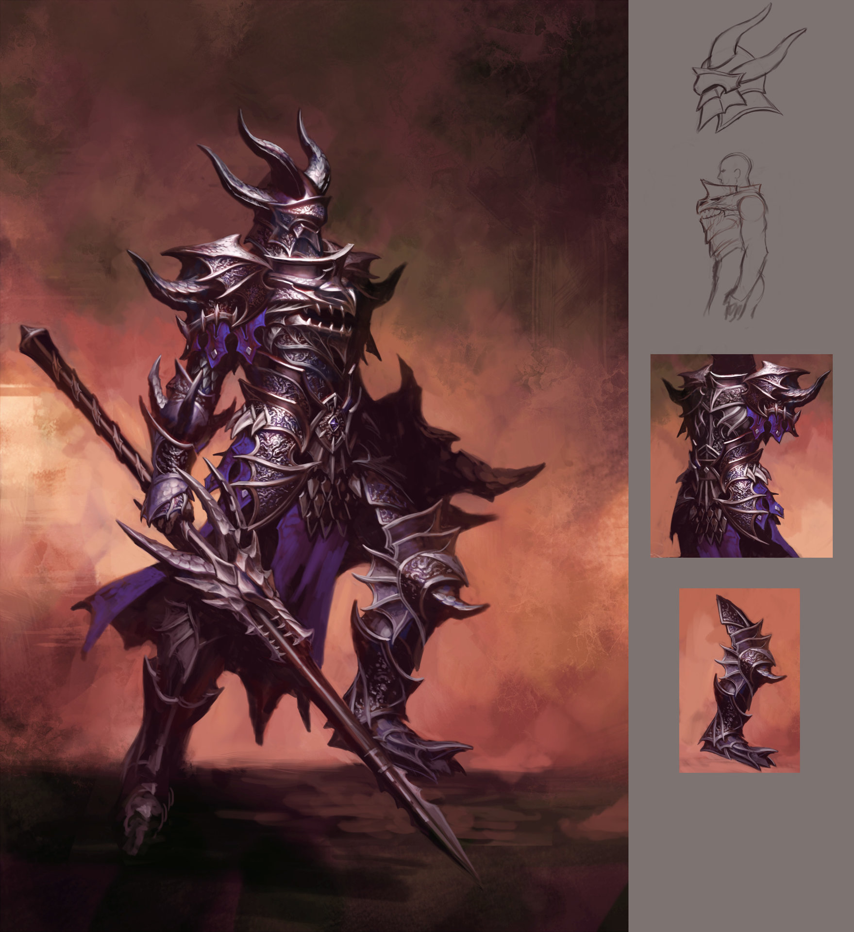 Dragon Armor Artwork : Get a price on your next commission by filling out the order form here!