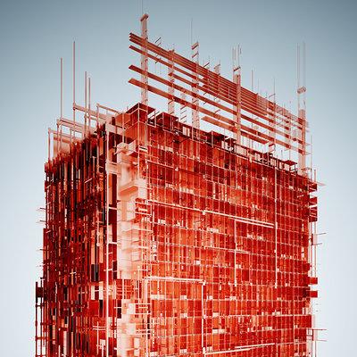 Ramon pasternak copper construct by lycium pasternak web