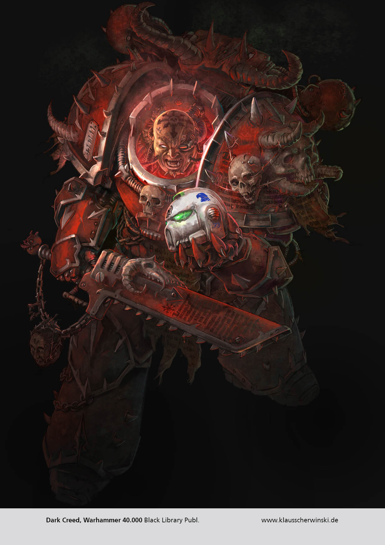"""Black Library Publishing. Cover for the Warhammer 40.000 novel """"Dark Creed""""."""