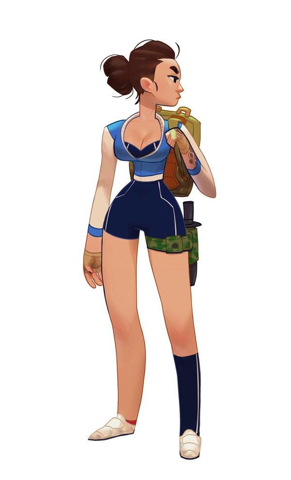 Character Design Art Station : Artstation blue girl max grecke