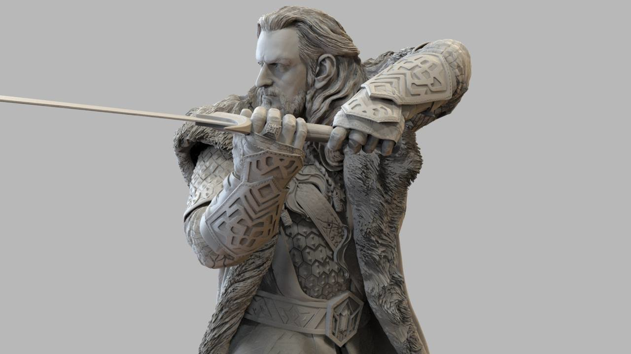 Thorin ZBrush sculpt for 3D print and manufacture of Weta Collectables