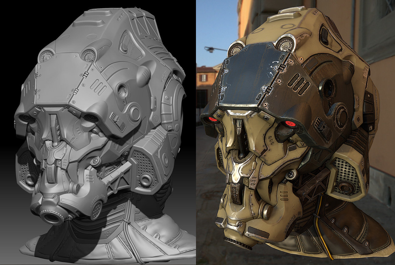 zbrush / marmoset game res comparison