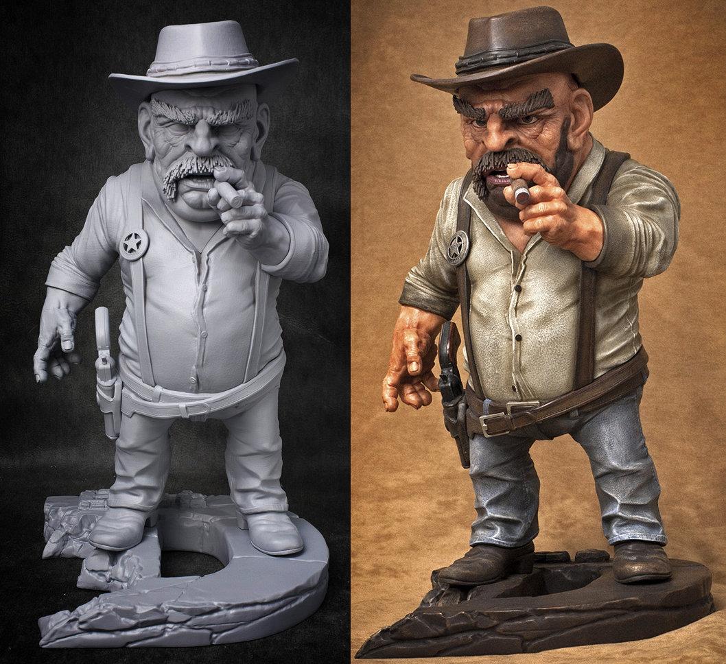 3D print of Eat3D cowboy