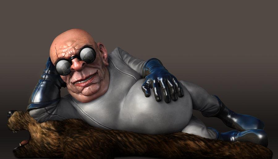ZBrush render of Eat3D Creepy seductive Doctor