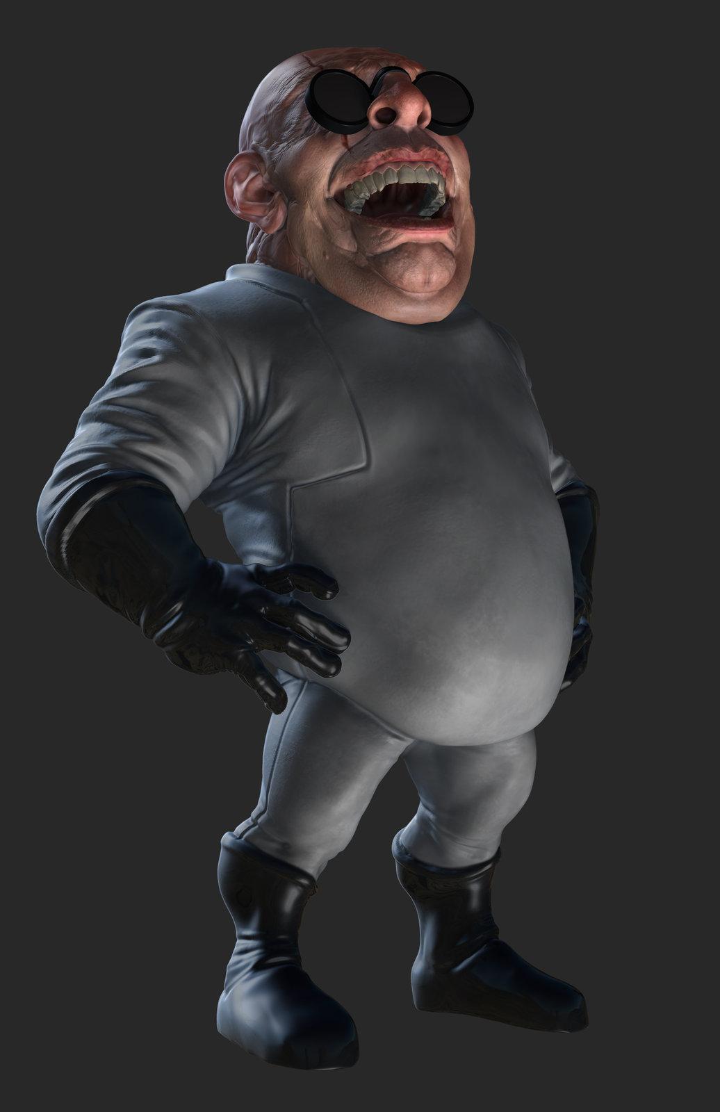 ZBrush render of Eat3D Creepy Doctor, Rim Light