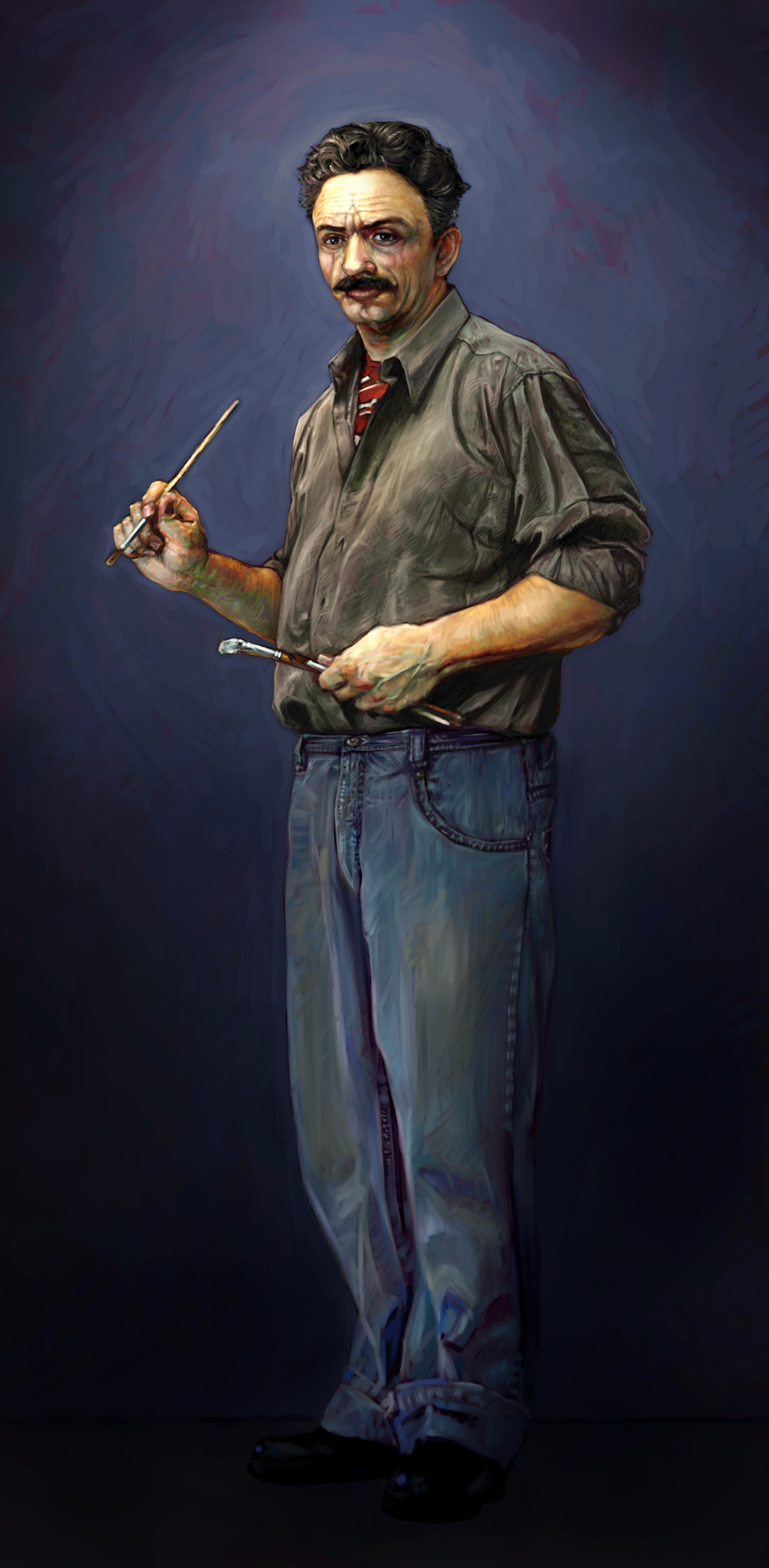 Digital painting, done at Ringling for Harcourt School Publishers
