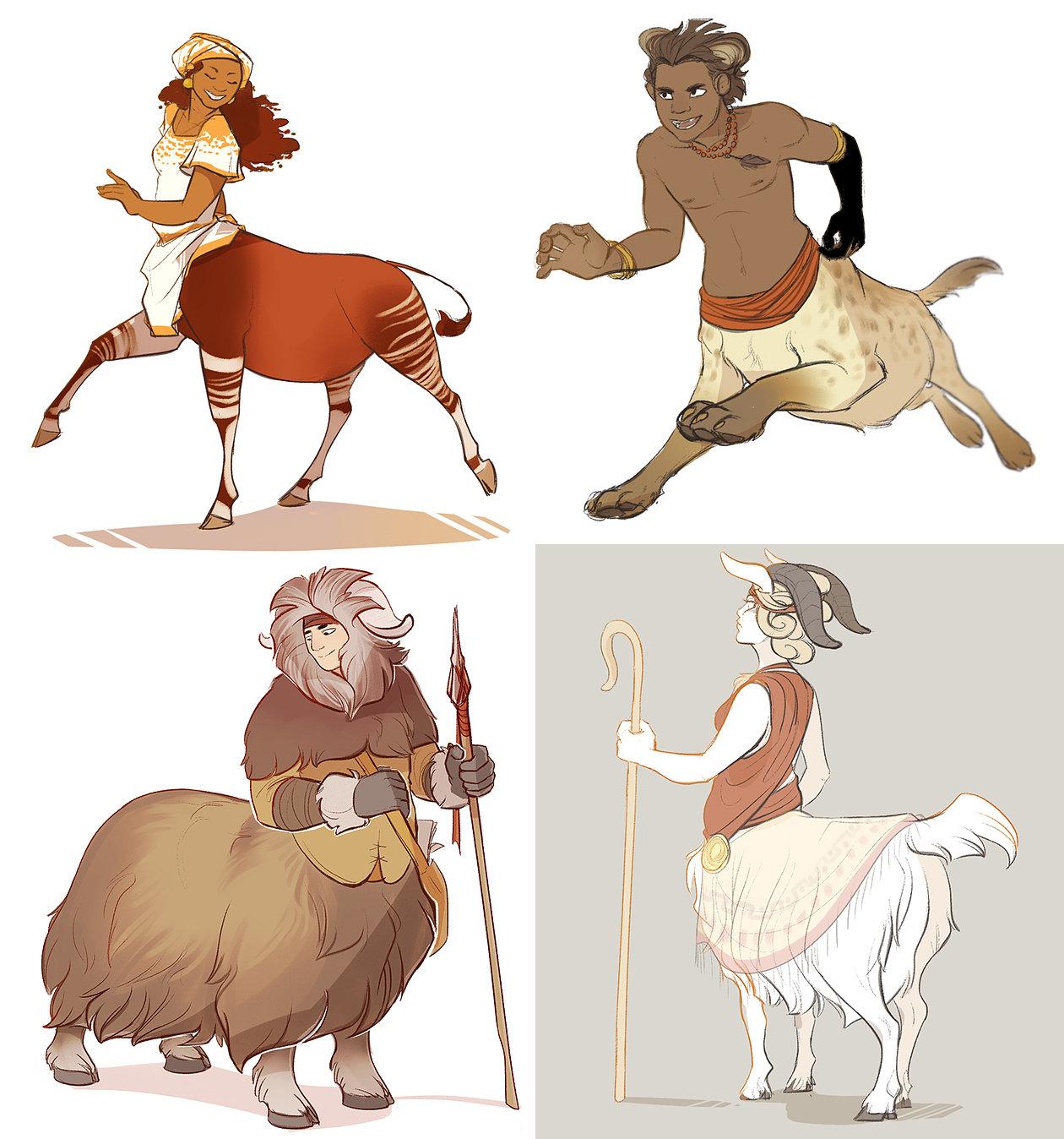 Artstation Centaur Designs Anneliese Mak