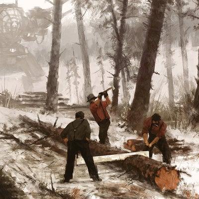 1920 - lumbering