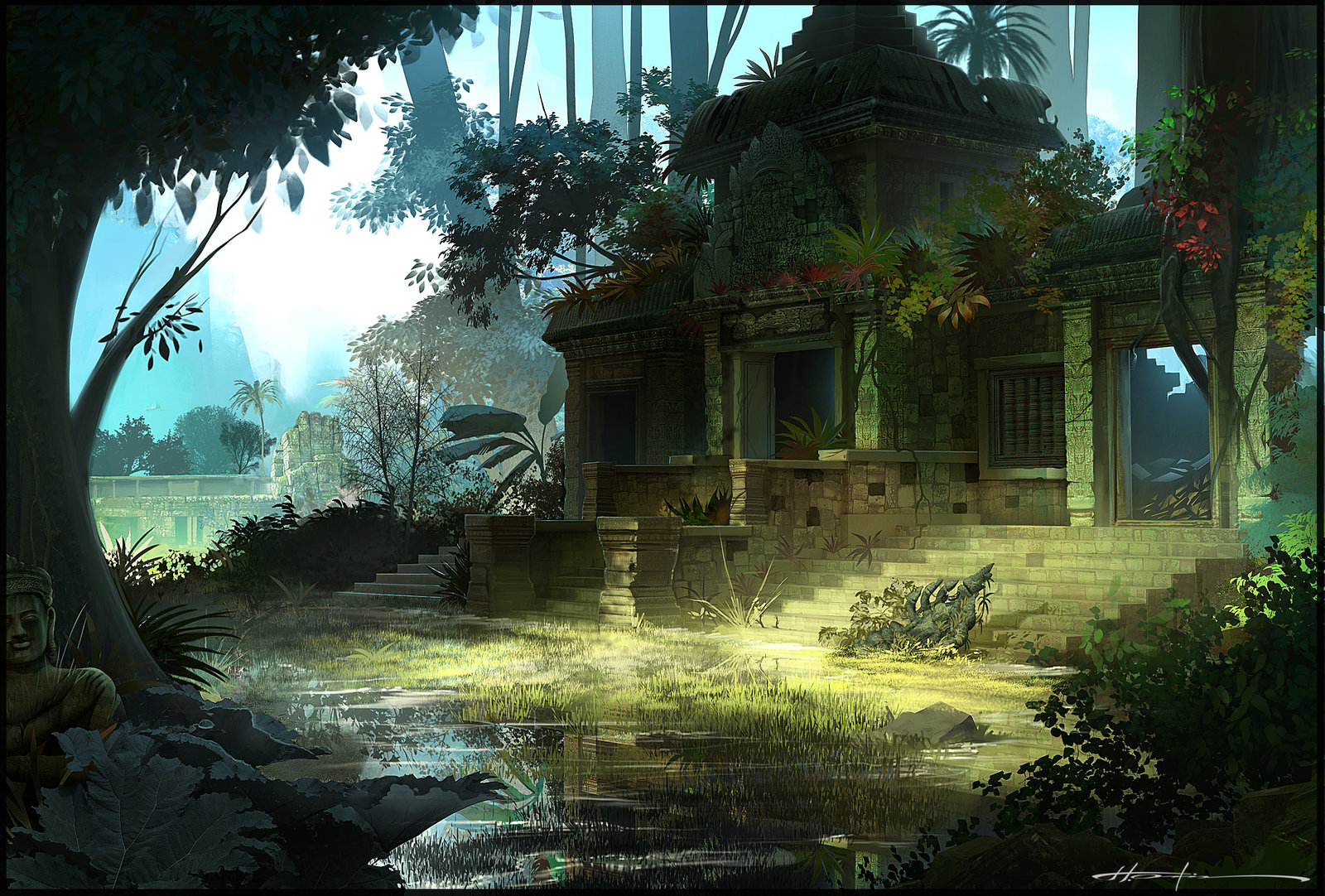 Lost jungle Temple