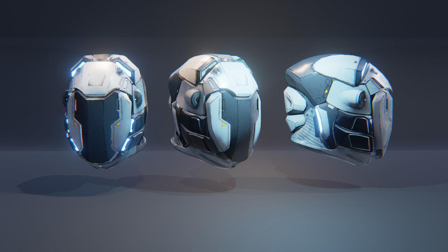 ArtStation - UE4 Helmet, Maxime LARIVIERE