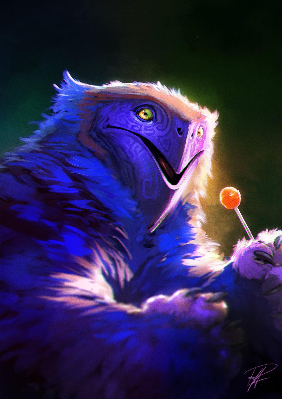 Gerald eats a lollypop