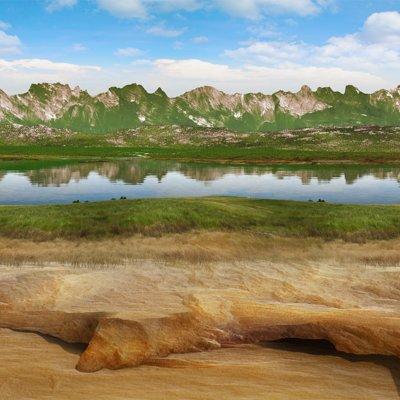 David roberson mountains foothills lake 1600