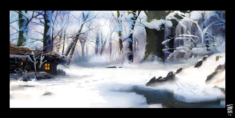 Ludovic sanson snow landscape1