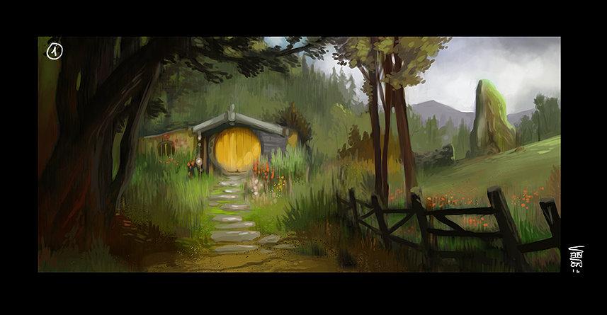 Ludovic sanson hobbit landscape1
