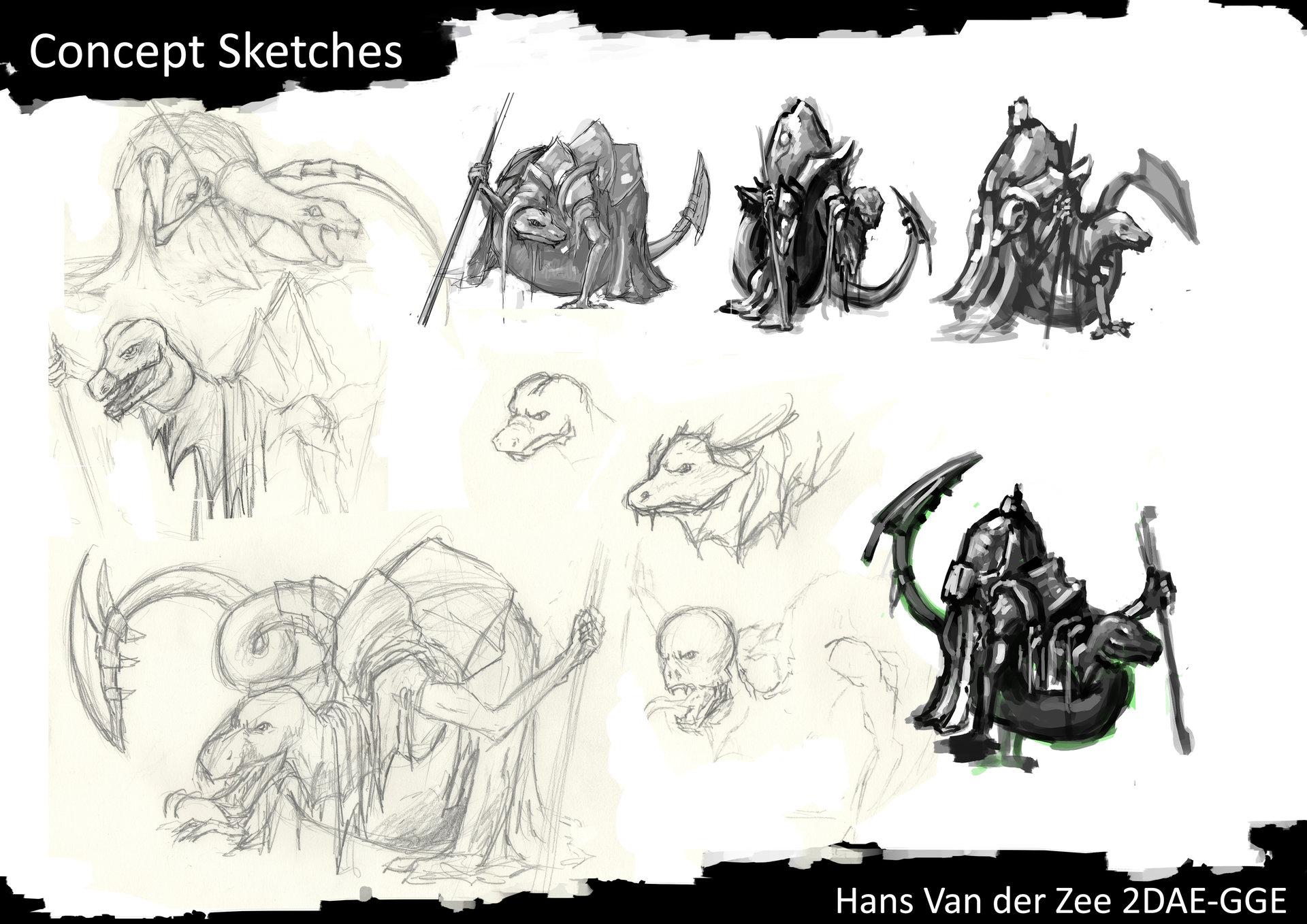 Hans van der zee 2dae van der zee hans exam concept sketches p2