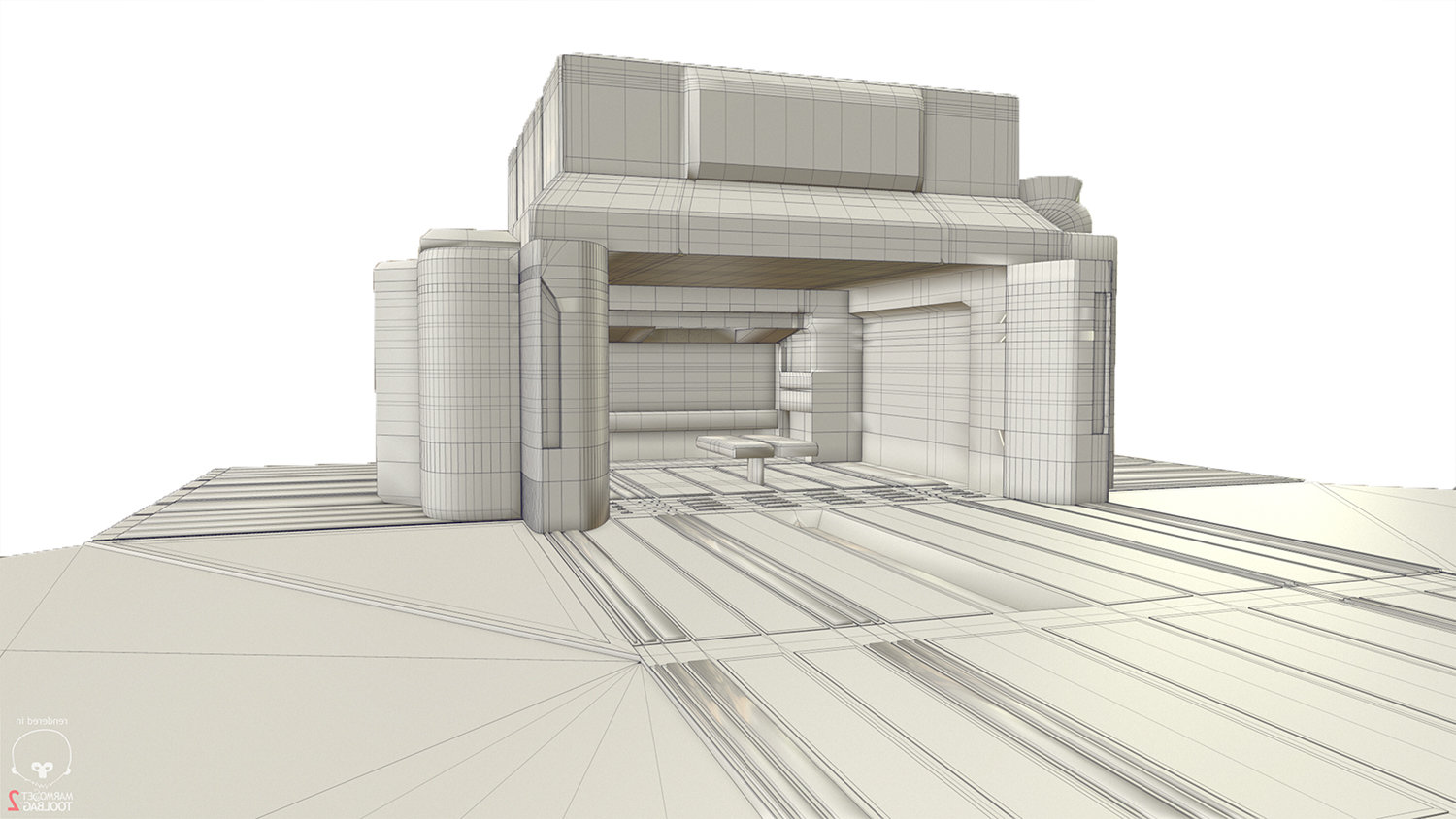 3D base for figuring out the general composition.