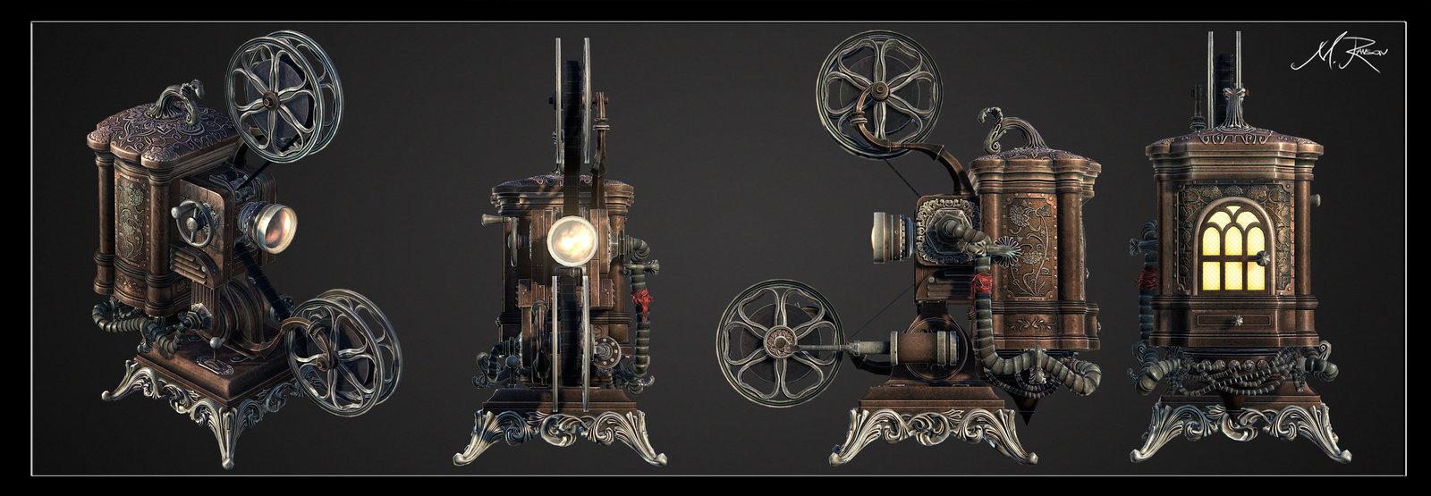 Steampunk Ampro Projector 2012