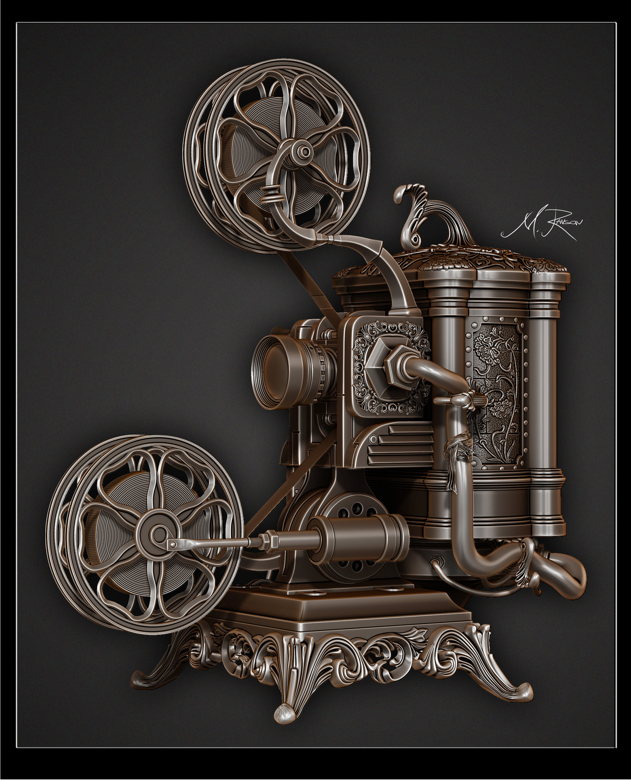 Steampunk Ampro Projector WIP