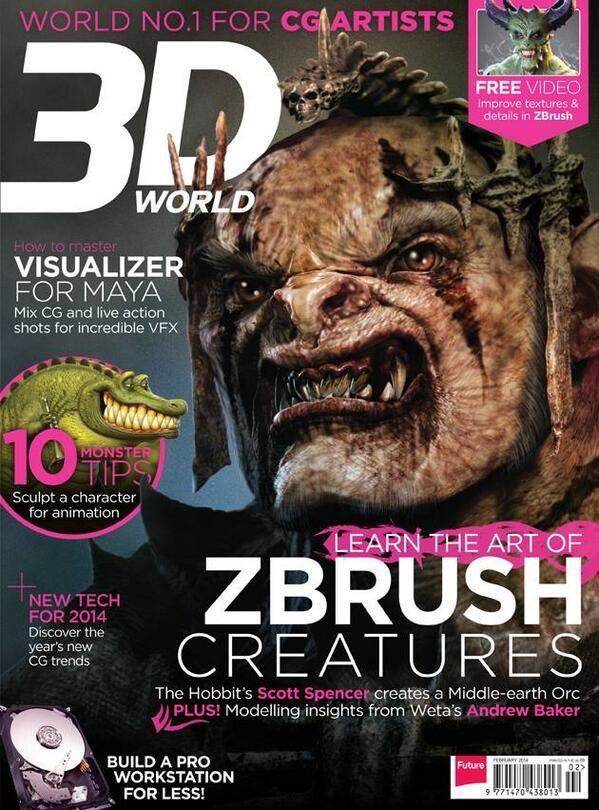 3D World Magazine cover Art Febuary 2014