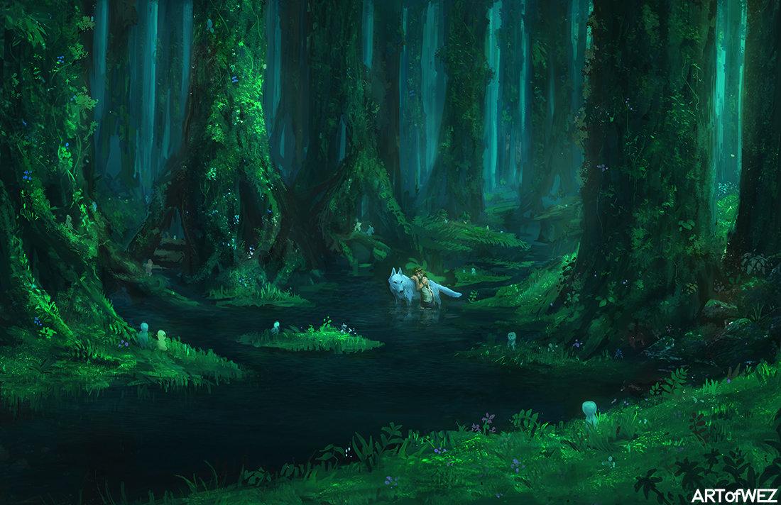 Forest Spirit Princess Mononoke Fan Art Doraemon