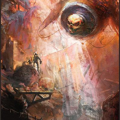 Sebastien ecosse ancient astronaut bell skull sci fi illustration s by sebastien ecosse d8k62qa