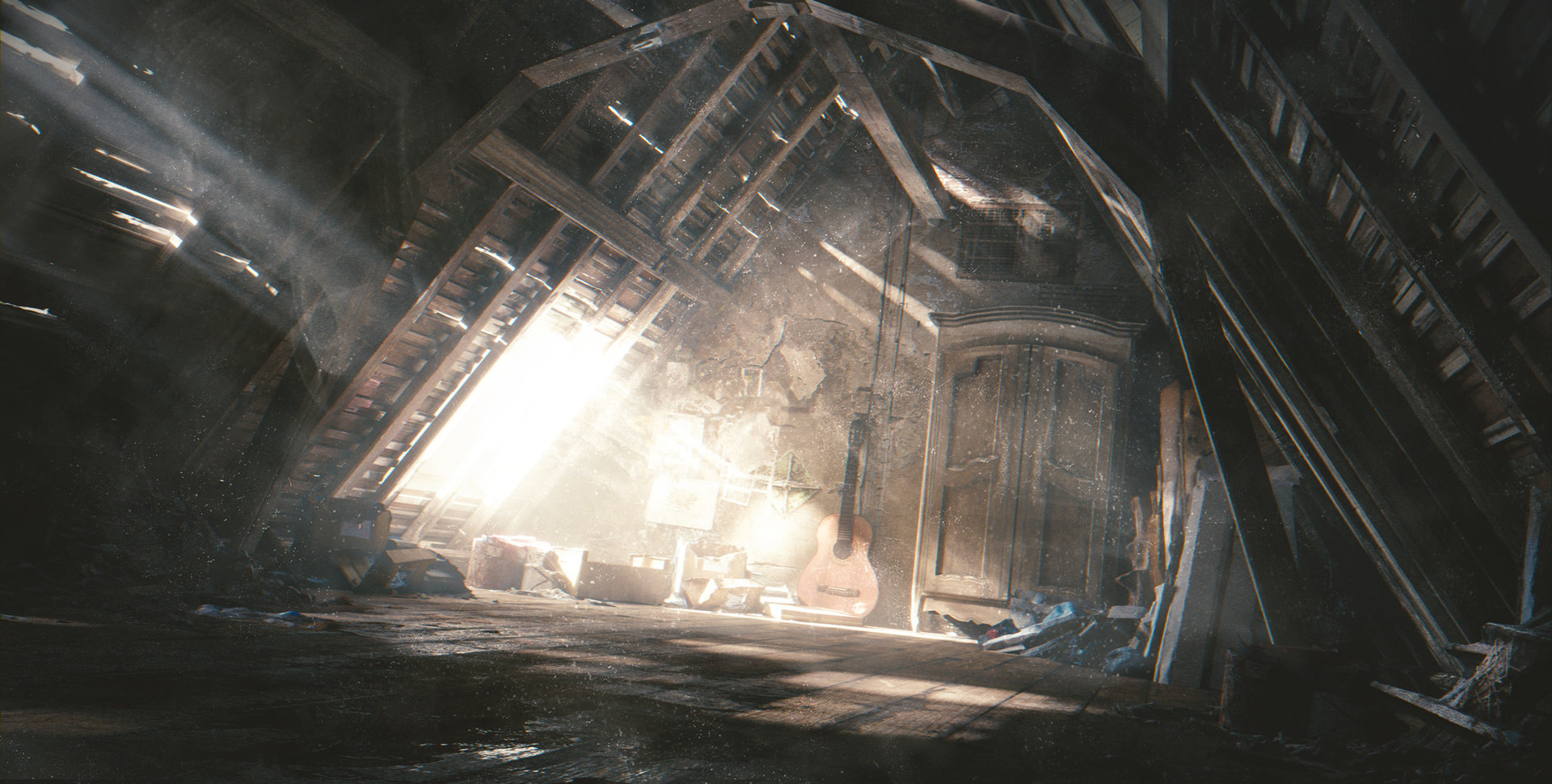 Artstation The Dusty Attic Gleb Alexandrov