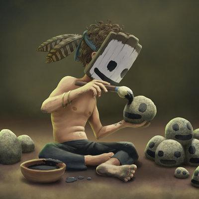 Andrew mcintosh rock painting 004