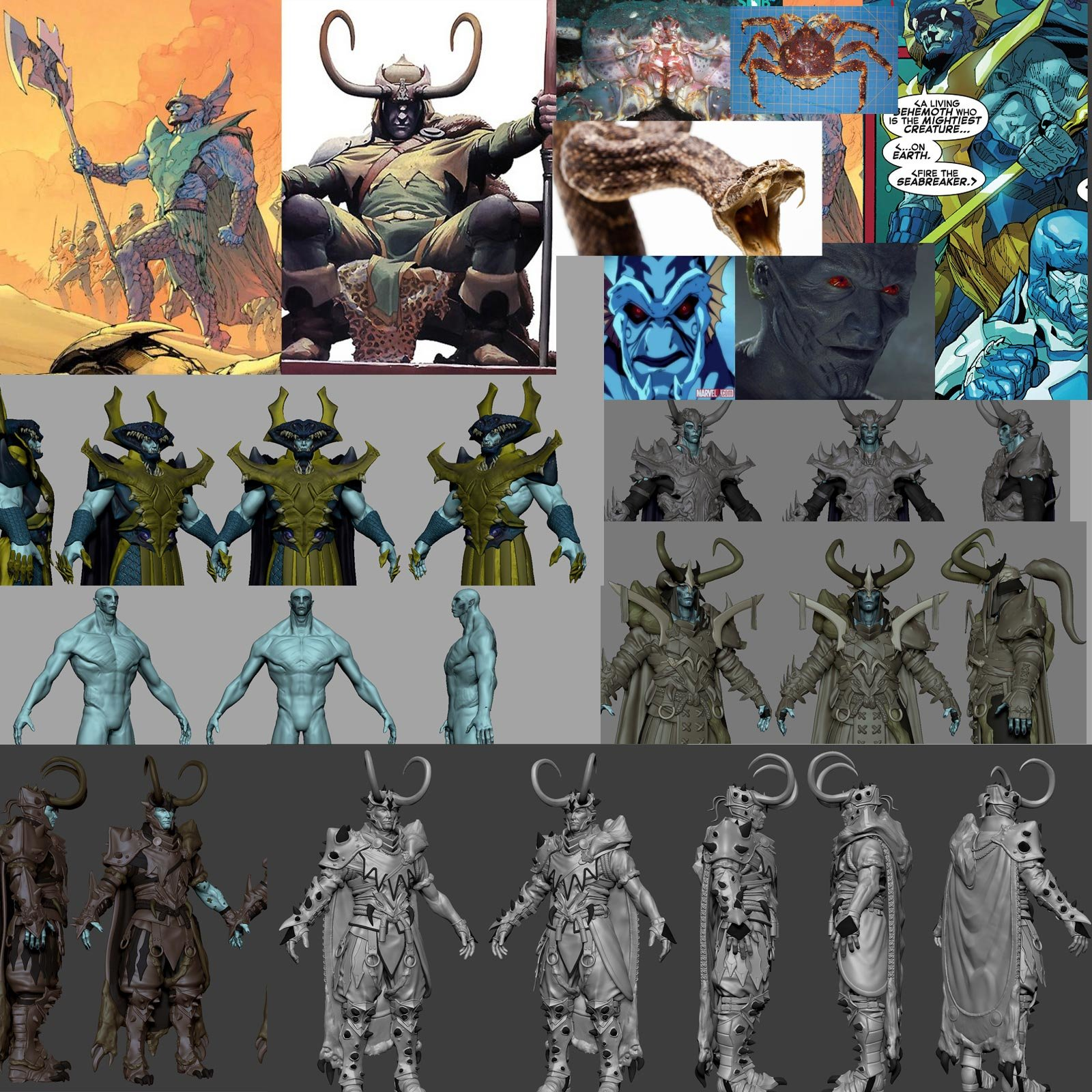 References and Concept Z Sketches.