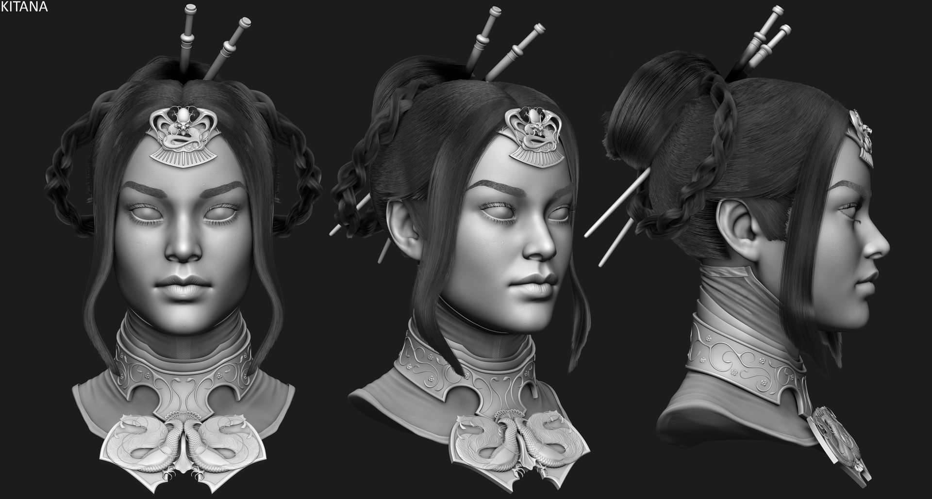 Did a whole lot of fibermesh in this game and learned a lot about styling hair in it.