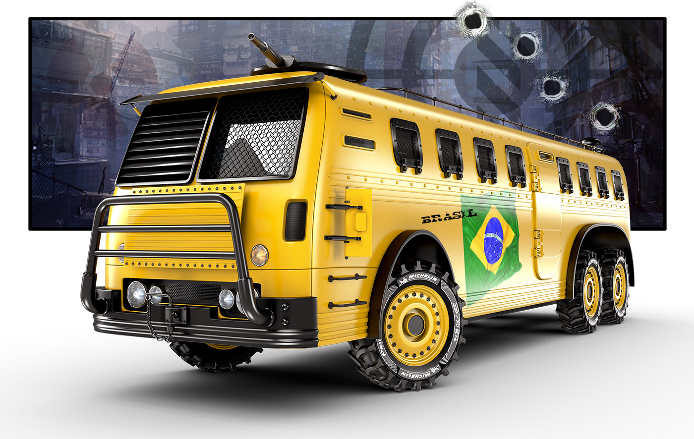 Jomar machado a world cup bus com fundo