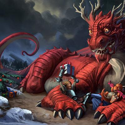 Marcel grober dragon christmas