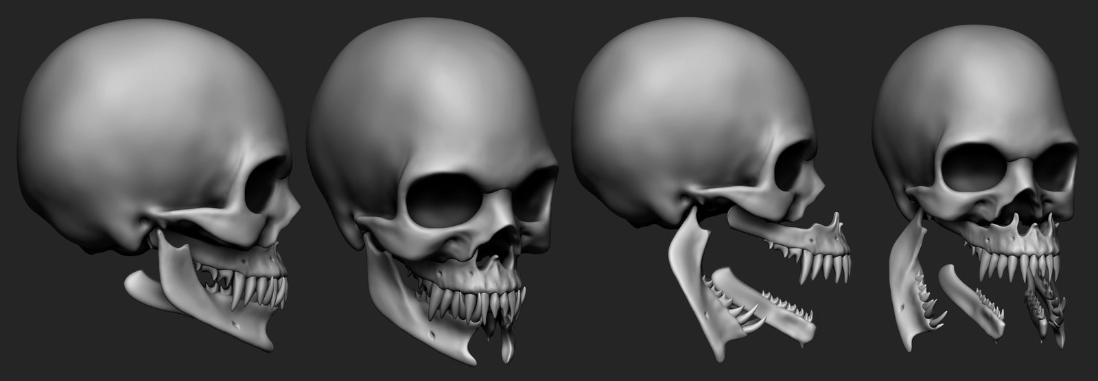 This was the hybrid cross of snake skull and human skull that seemed like a logical function to Mileena.
