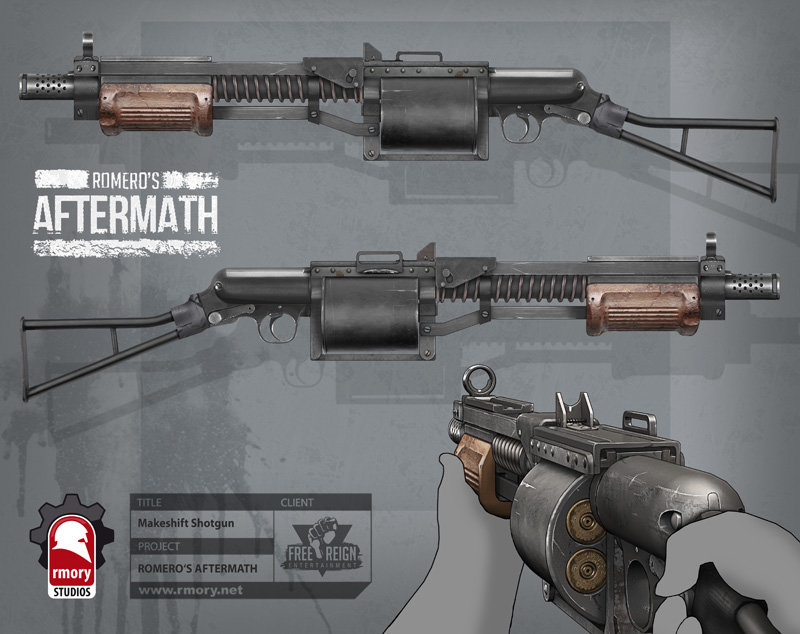 romero's aftermath - makeshift shotgun for freereign entertainment by rmory studios