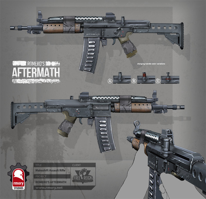 romero's aftermath - makeshift assault rifle for freereign entertainment by rmory studios