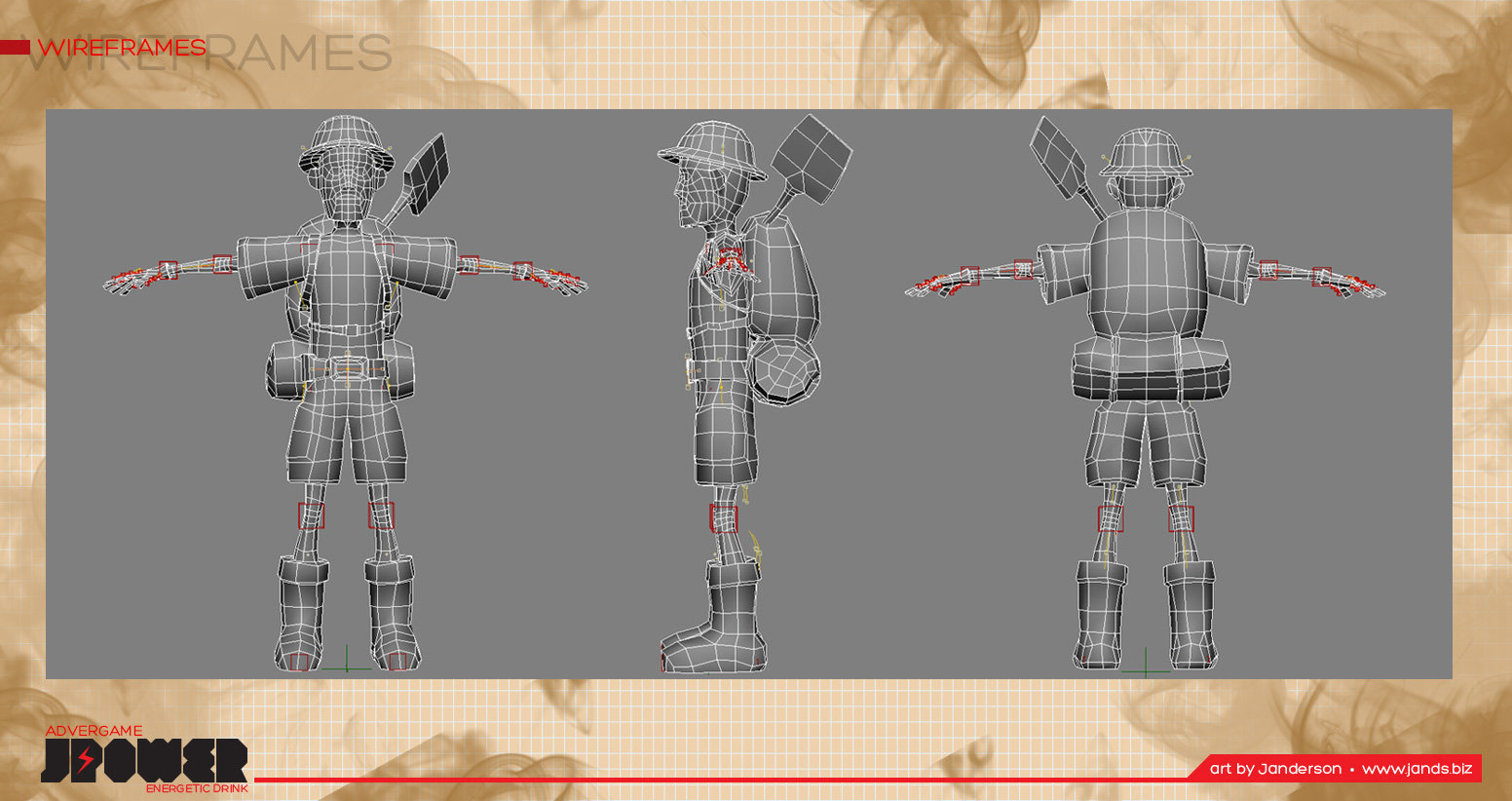The main character - wireframe